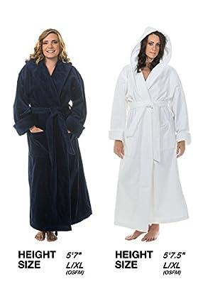 Comfy Robes Women's Terry Velour Hooded Bathrobe