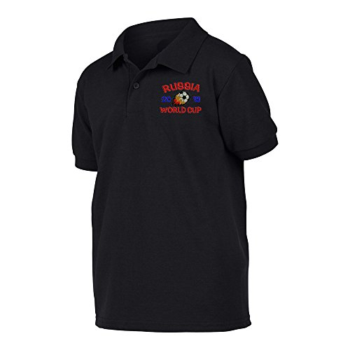 Polo World Cup - FIFA World Cup 2018 Polo Shirt Black Large