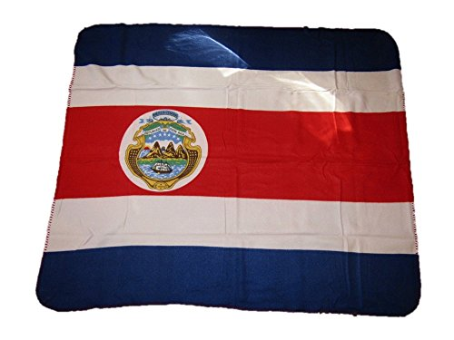 Costa Rica Rican Flag 50x60 Polar Fleece Blanket Throw