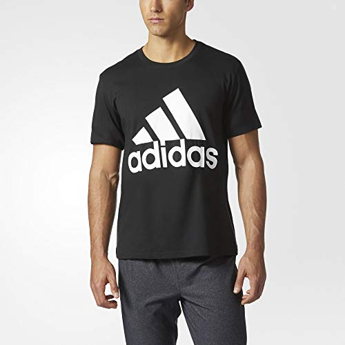 adidas Mens Badge of Sport Graphic Tee, Black/White, 3X-Large