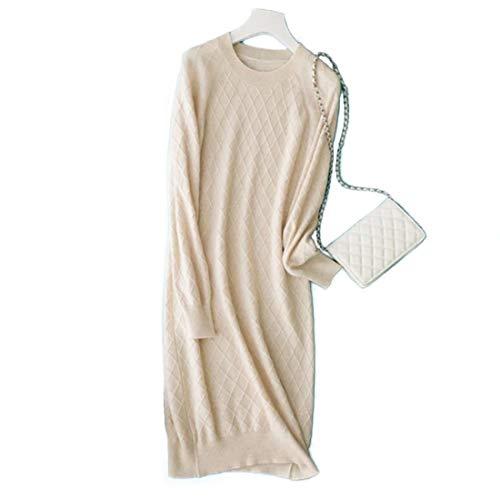 Mallty Sezione Lunga In 2xl Ol Femminile Maglia Media E Manica Donna Da A S Cashmere White Taglia 1wvgrq14