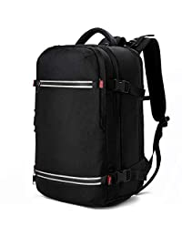 Laptop Backpack 17.3 Inch Water Resistant Large USB Charging Travel Business Extra Big Outdoor Computer Backpack for Mens Women Black