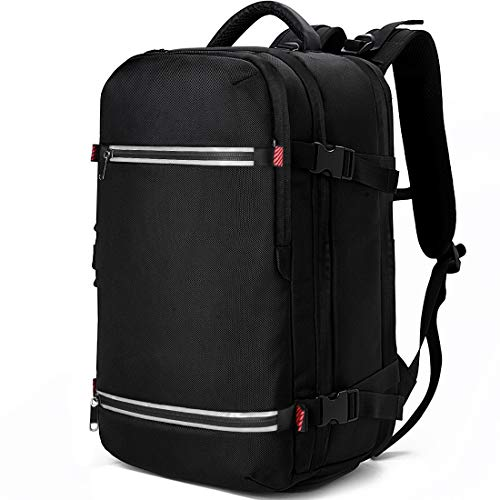 Laptop Backpack 17.3 Inch Waterproof Large Business Travel Bags College School Students Gaming 17 inch Laptop Backpacks Notebook Computer Bags USB Charging Port Cable for Men Women Black (black1)