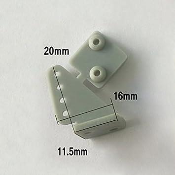 LaDicha 10Pcs Plástico Triángulo Servo Cuerno Gris Blanco ...
