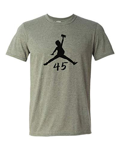 Air Trump T-Shirt Jump Man Paper Towel Funny Jordan Parody Pres 45 Heather Military Green
