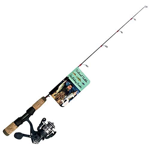 Tailored Tackle Ice Fishing Rod Reel Combo 28 in. Medium Light Fast Action Multi-Species Walleye Perch Panfish Bluegill Crappie
