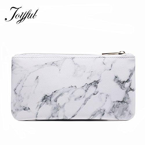 Joyful Marble Cosmetic Bag Zipper Storage Bag Portable Ladie