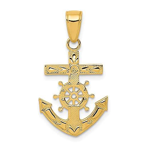 14K Yellow Gold Mariner's Cross -