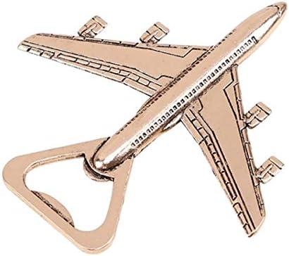 Abrebotellas de avión, sólido, fácil de usar, el mejor abridor de botellas, regalos de aviación para piloto, decoración de avión, regalo de cumpleaños para veteranos, avión, avión dorado antiguo