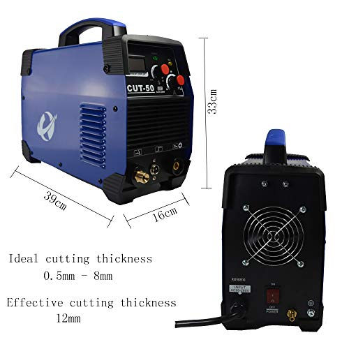 Plasma Cutter, CUT50 50 Amp 110V/220V Dual Voltage AC DC IGBT Cutting Machine with LCD Display and Accessories Tools by CORAL (Image #2)