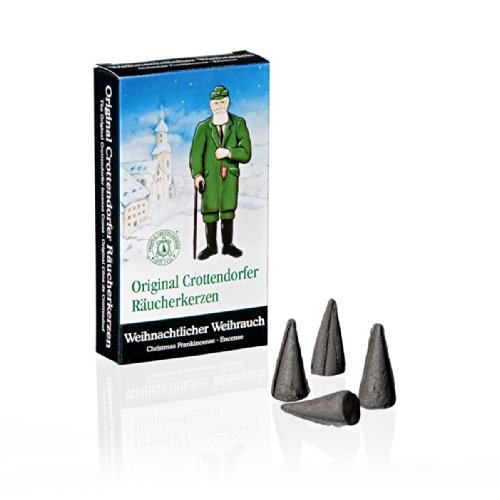 Crottendorfer Frankincense Scented Incense Cones, Pack of 24, Made in Germany Man Incense Smoker