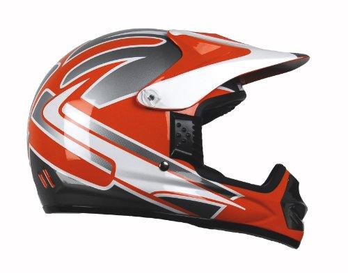Raptor Junior Off Road Helmet with Orange Graphic (Orange, Large)