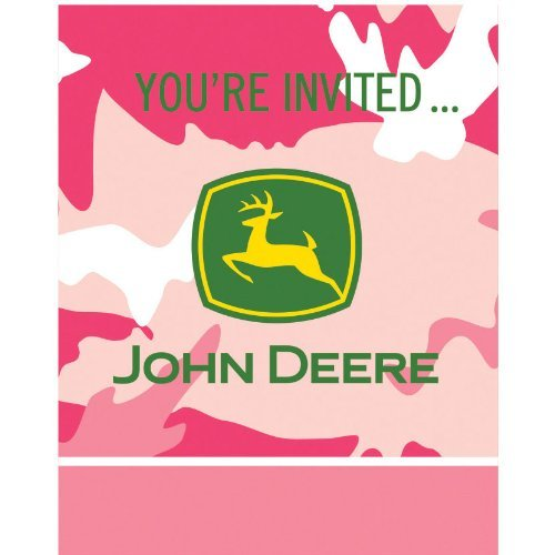Pink Camo John Deere birthday - Deere You Thank John