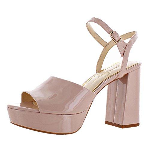 Toe Simpson Open Jessica Platforms (Jessica Simpson Kerrick Women's Patent Platform Sandals Shoes Pink Size 12)