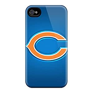Excellent Hard Phone Cases For Iphone 4/4s With Customized Colorful Chicago Bears Image JonBradica