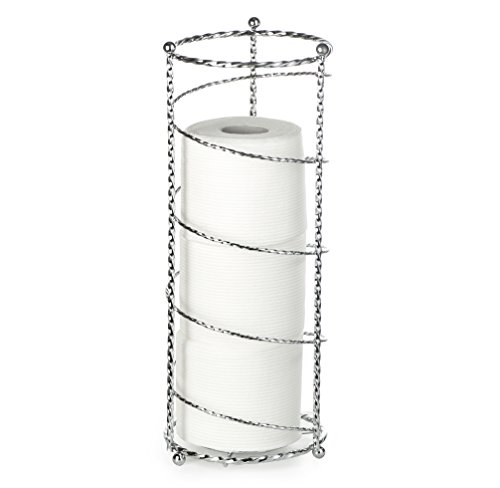 - AMG and Enchante Accessories, Spiral Toilet Paper Storage Holder Reserve, TP230-A CHR, Chrome
