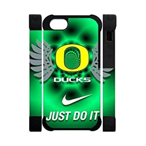 Forever Collectibles Oregon Ducks Graphics NCAA College Team iPhone 5 5S Dual-Protective Polymer Case Cover with NIKE JUST DO IT Logo