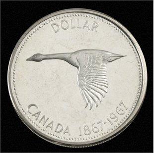 Canada 1967 Centennial Ounce Silver Dollar Goose Coins Royal Canada Mint