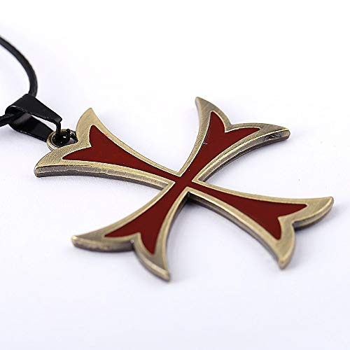 Mct12 - MS Jewelry Assassins Creed Necklace Templar Cross ...