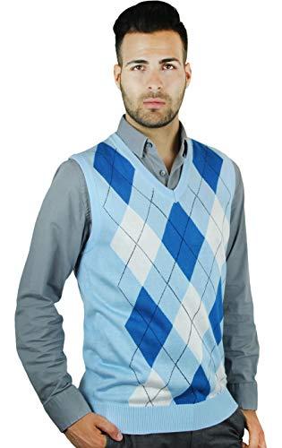 (Blue Ocean Men's Argyle Sweater)