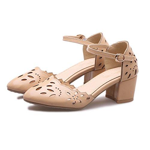 CXQ-Talones QIN&X Bloque de mujeres señaló Toe sandalias zapatos Pink Red