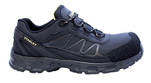 Stanley Men's Laser COMP Toe Industrial & Construction Shoe, Black, 10 D US
