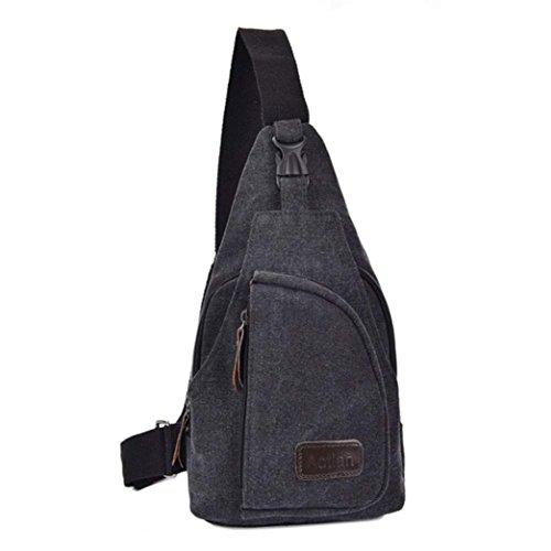 ocasional bandolera Caqui bandolera Desequilibrio pecho de bolso mochila oscuro Gris lona Malloom qwU4ntfXf