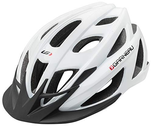 Louis Garneau Le Tour 2 Lightweight, Adjustable, CPSC Safety Certified Bike Helmet for Men and Women, White/Silver, ()