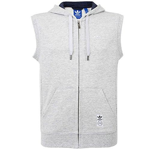 Adidas Originals da uomo PE senza maniche felpa con cappuccio–grigio–XS
