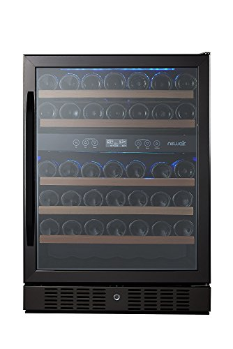 NewAir AWR-460DB-B Dual Zone 46 Bottle Built in Wine Cooler, Black Stainless Steel by NewAir (Image #4)