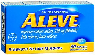 Aleve Aleve All Day Strong Pain Reliever And Fever Reducer Caplets, 50 caplets 220 mg(Pack of 2) (Aleve Cold Medicine)