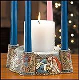 Nativity Scene Advent Candle Holder