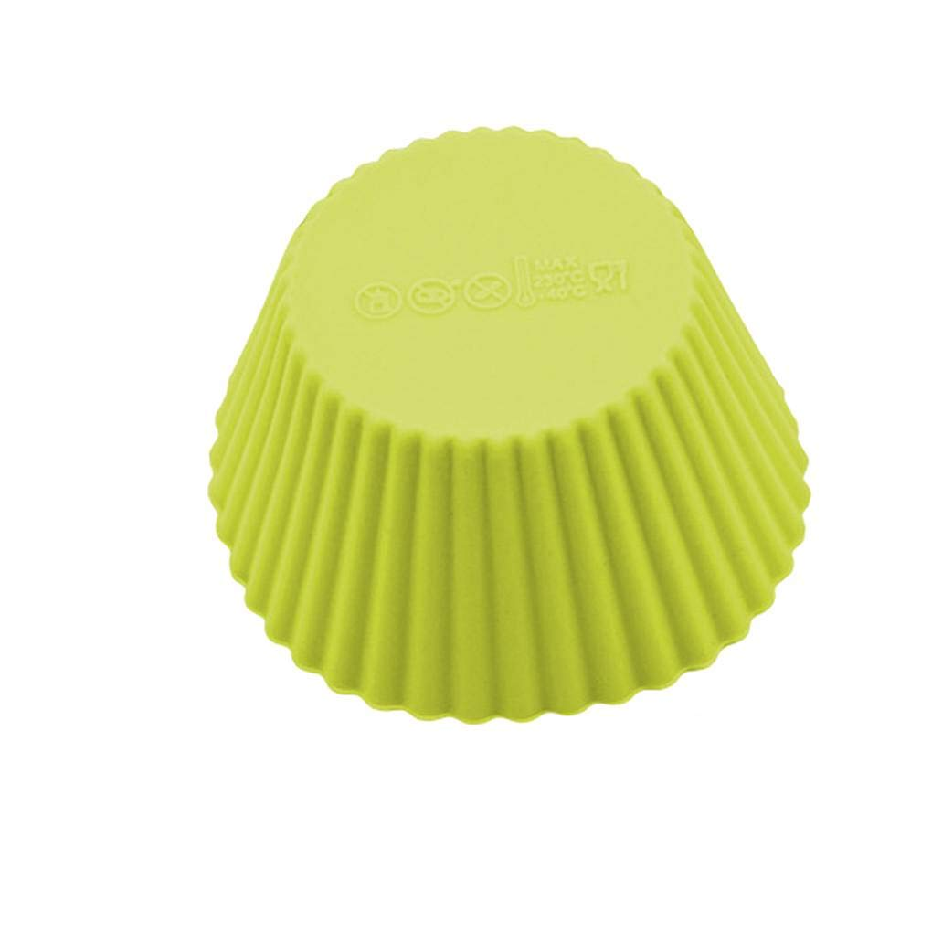 Uokoki 18PCS Reutilizable de Silicona moldes peque/ños de la Magdalena Tazas de bicarbonato Mruffle Torta de Pan Establece el Color al Azar