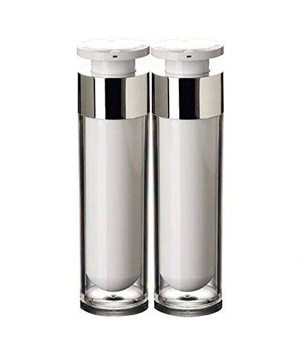 d0fcc42e1d1e 2PCS 50ML White Refillable Portable Acrylic Empty Airless Vacuum ...