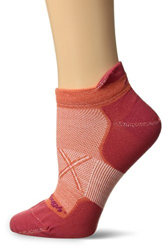 Darn Tough Vertex No Show Tab UltraLight Women's Socks (Coral) Large by Darn Tough