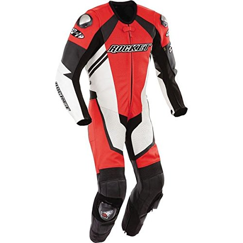 Joe Rocket Speedmaster 6.0 Men's 1-Piece Leather Street Racing Motorcycle Race Suit - Red/White / Sz. (Joe Rocket Speedmaster Leather)