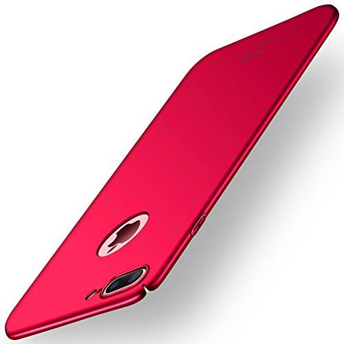 """Apple iPhone 8 Plus (5.5"""") Hülle, MSVII® Sehr Dünn Hülle Schutzhülle Case Und Displayschutzfolie für Apple iPhone 8 Plus (5.5"""") - Rot / RED JY00370"""