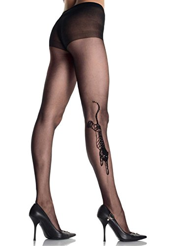 Leg Avenue Womens Tiger Tattoo Sheer Tights -