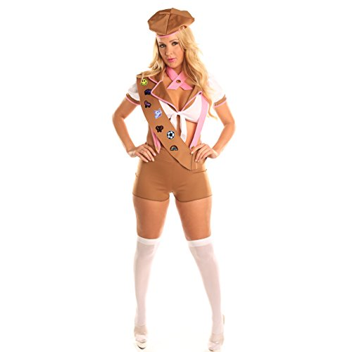 Disiao Sexy Scout Role Play Costume Set Halloween Suits Cosplay for Teen Girl Woman (M, Brown) - Bride Of Chucky Toddler Costumes