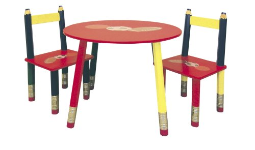 ORE International Kids' Primary-Color 3-Piece Table Set by ORE
