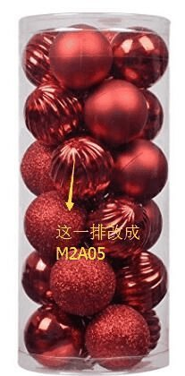(Valery Madelyn 24ct 60mm Essential Red Basic Ball Shatterproof Christmas Ball Ornaments Decoration,Themed Tree Skirt(Not Included))