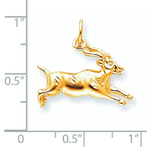 10 K en Satin-Gazelle-supérieure Doré Grade que JewelryWeb or 9 carats