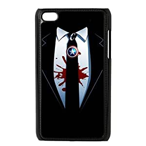 Custom Your Own Marvel Captain America Shield Ipod Touch 4 case , Special designer Captain America Ipod 4 Case