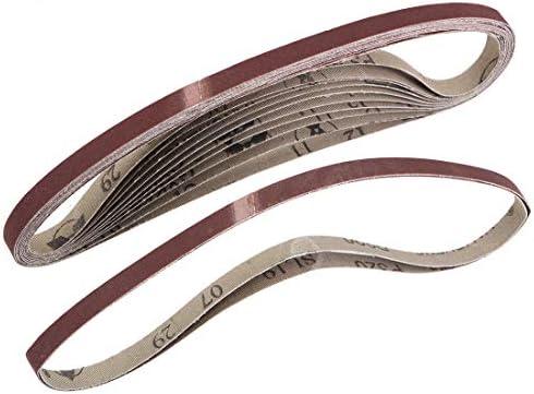 uxcell 研磨ベルト サンディングベルト サンディングベルト 320グリット 酸化アルミニウム 9mm x 533 mm 12個入り