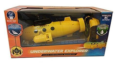 Remote Control Submarine - UNDERWATER EXPLORER - Yellow by Blue Hat (Remote Control Viking)