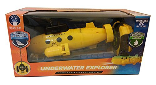 Remote Control Submarine - UNDERWATER EXPLORER - Yellow by Blue Hat