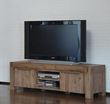 Tv Unterschrank Hamburg Massiv Holz Lowboard Tv Schrank Fernsehtisch