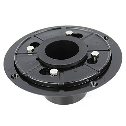 Pofuzen Linear Shower Drain Base (flange) with Rubber Gasket. Linear drain kit, ABS Base, PVC Flange - Ideal for Tile Insert Floor Drains - Compatible with 36 inch and 48 inch Linear Drains