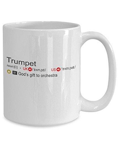 Trumpet Definition Coffee Mug God's Gift To Orchestra 11oz 15oz Tea Cup Trumpet Player Gifts