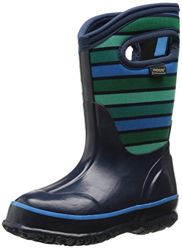 Bogs Classic Stripes Waterproof Insulated Rain Boot ,  Dark